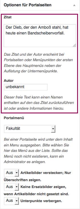 portalseite optionen zitat