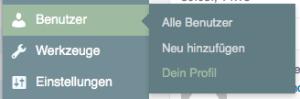 detail menu benutzer