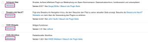 plugin aktivieren
