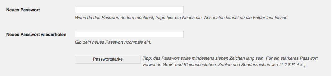 passwort aendern