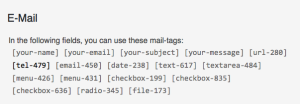 form email tags