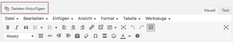 """Screenshot der Schaltfläche """"Dateien hinzufügen"""""""