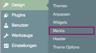 menue design