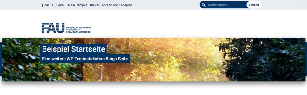 Banner mit Bild auf der Startseite