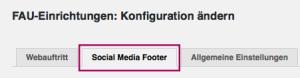 """Der Reiter """"Social Media Footer"""""""