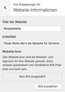 Website-Informationen