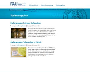 Screenshot von der Monitoransicht der fertigen Kategorieseite