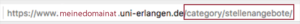 screenshot von der Browserzeile mit der URL einer beispielhaften Kategorieseite, die auf /category/stellenangebote endet.