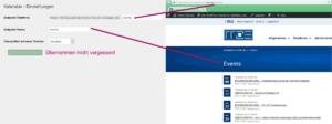 Der Screenshot zeigt die Einstellungen sowohl im Backend als auch im Frontend mit Hinweisen darauf, welche Einstellung worauf Effekt hat.