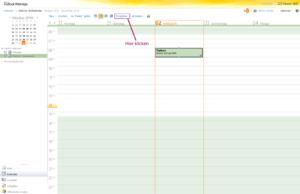 """Der Screenshot zeigt die Position der Schaltfläche """"Freigeben"""" in der Outlook WebApp"""