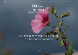 Screenshot FAU-Events Startseite fullscreen