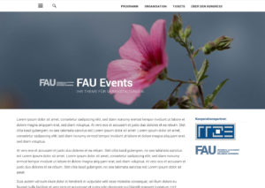 Screenshot FAU-Events Startseite fullwidth