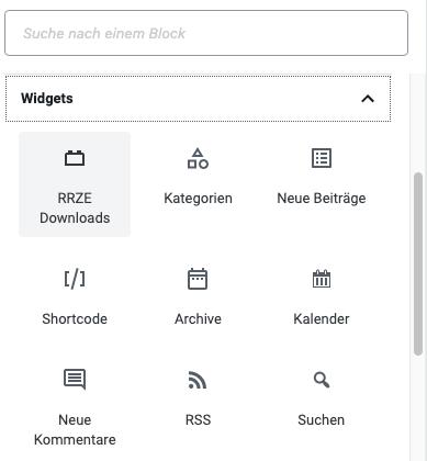Plugin Downloads im Gutenberg Editor - Schritt 1