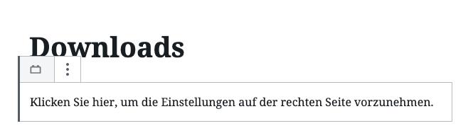 Plugin Downloads im Gutenberg Editor - Schritt 2