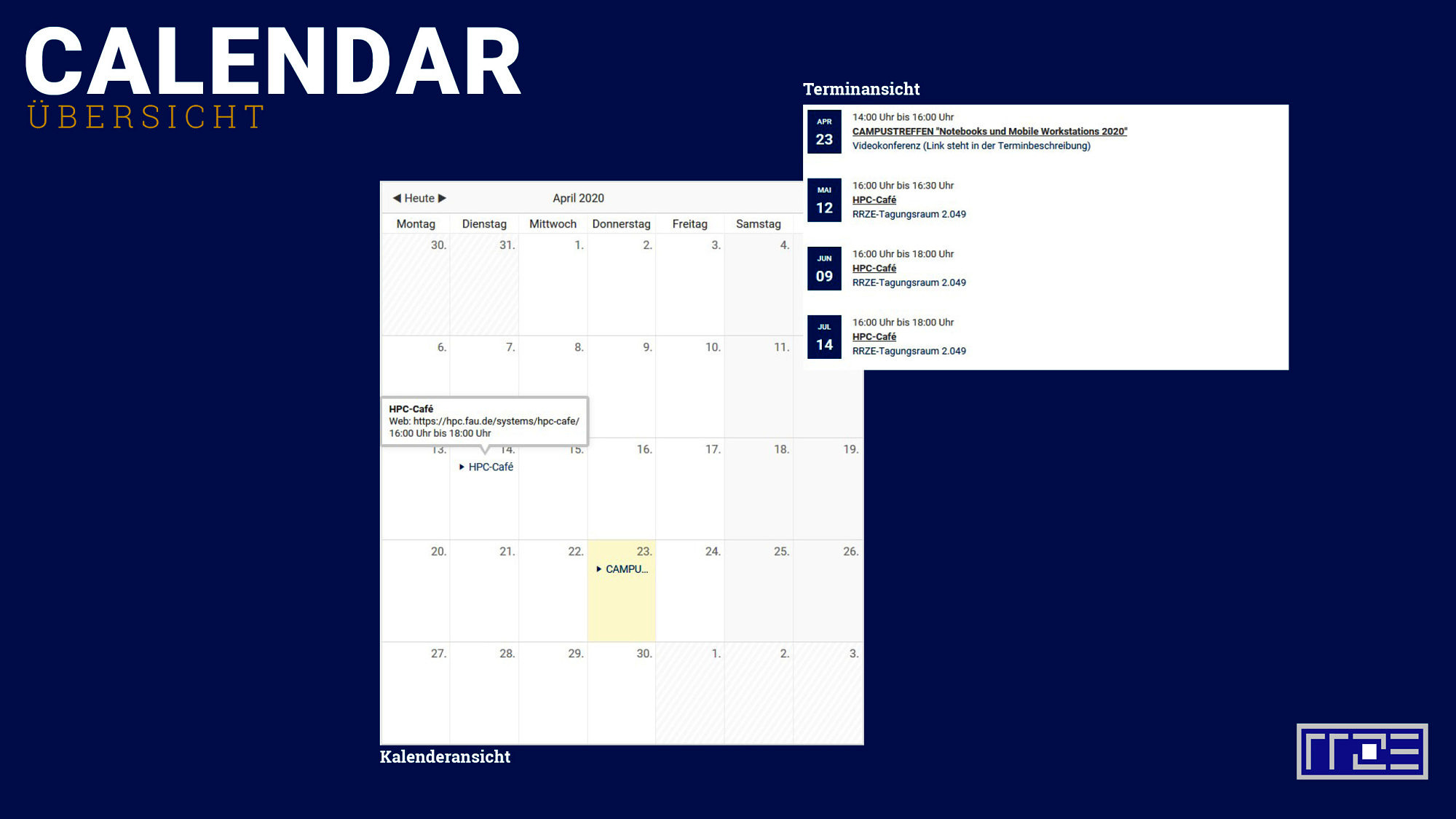 Calendar Schaubild