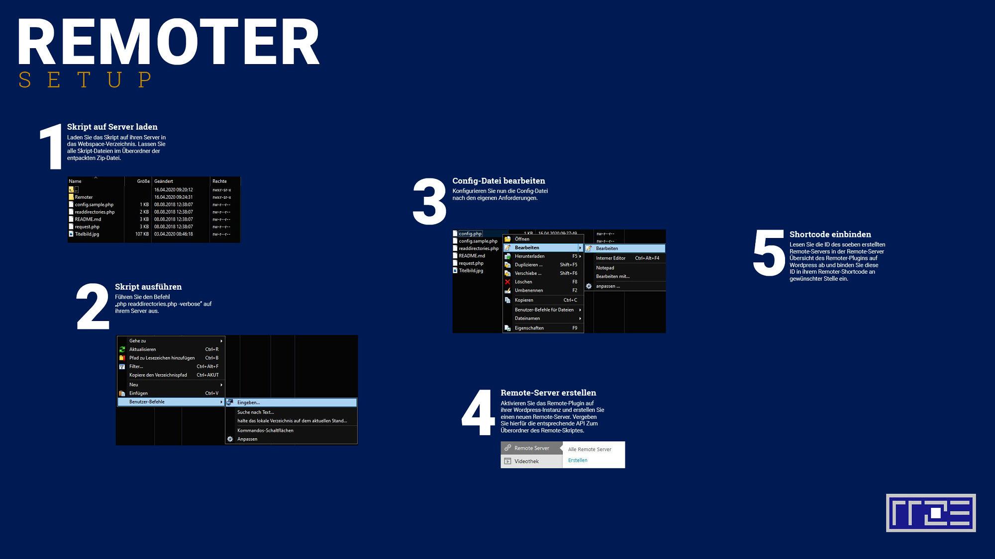 Schaubild Remoter-Setup