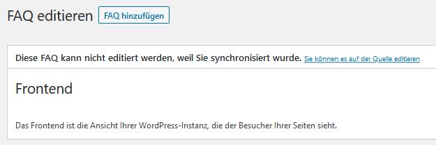 FAQ externe Quellen bearbeiten screenshot