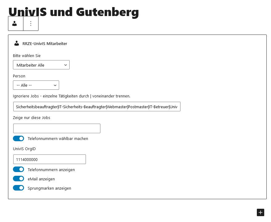 Univis Gutenbergblock Mitarbeiter